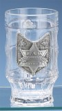 Law Enforcement Glass Facet Beer Mug