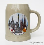 Barcelona Spain Stoneware Beer Mug