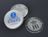 Hofbrauhaus Munich Brewery Glass Beer Coasters Set of 4