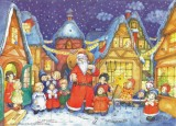 Santa Comes to Town German Advent Calendar
