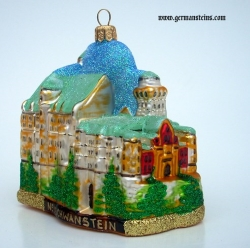 Traditional German Hand Painted Glass Christmas Ornament