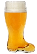 Glass Beer Boot Gift Idea for Father's Day
