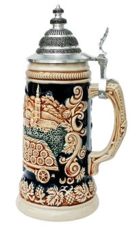 Munich Oktoberfest Antique Style Beer Stein