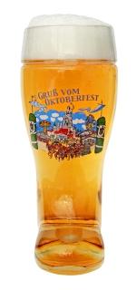 One Liter Oktoberfest Beer Boot