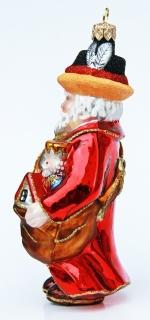 German Santa Glass Christmas Ornament