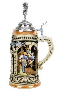Authentic german beer stein with lid